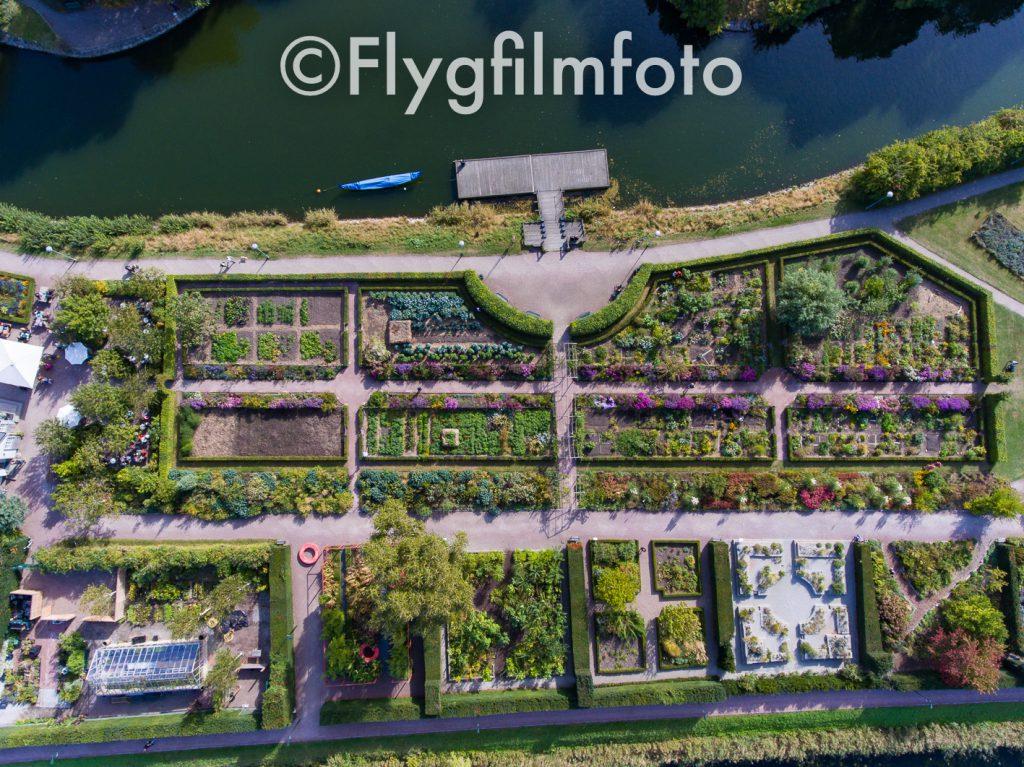 Slottsparken, Slottsträdgården, Malmö, park, parker, kanal, väderkvarn, mölla, grönska, träd, trädgård, damm, malmö, drönare, flygfoto, flygbild, flygfilmfoto, drone, aerial, aerial photography, dii, phantom4, garden, castle garden, flowers, blommor