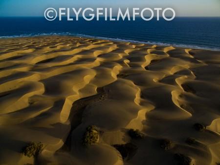 Sanddyner möter hav