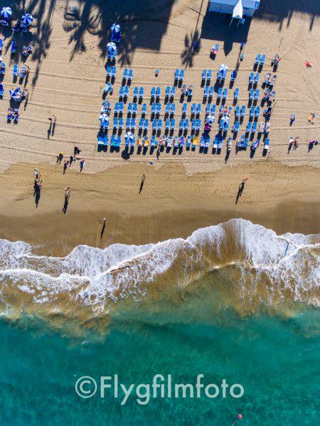 Stranden Las Canteras i Las Palmas på Gran Canaria